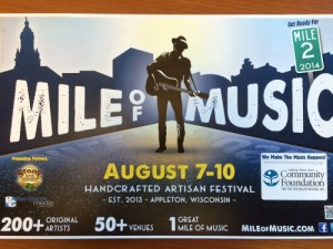 mile of music poster 2014